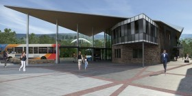 Work has begun on a new bus station in Merthyr Tydfil